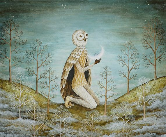 Lolley.  I love her work.  Very much influenced from Remedios Varo, dontcha think?