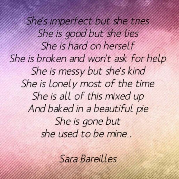 She used to be mine - Sara Bareilles