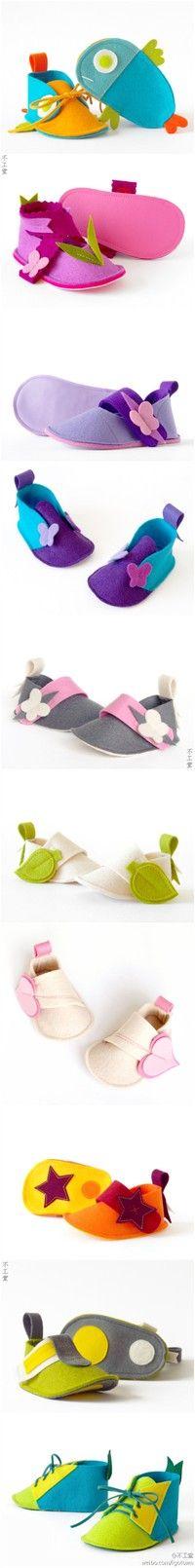 sapatinhos de feltro!