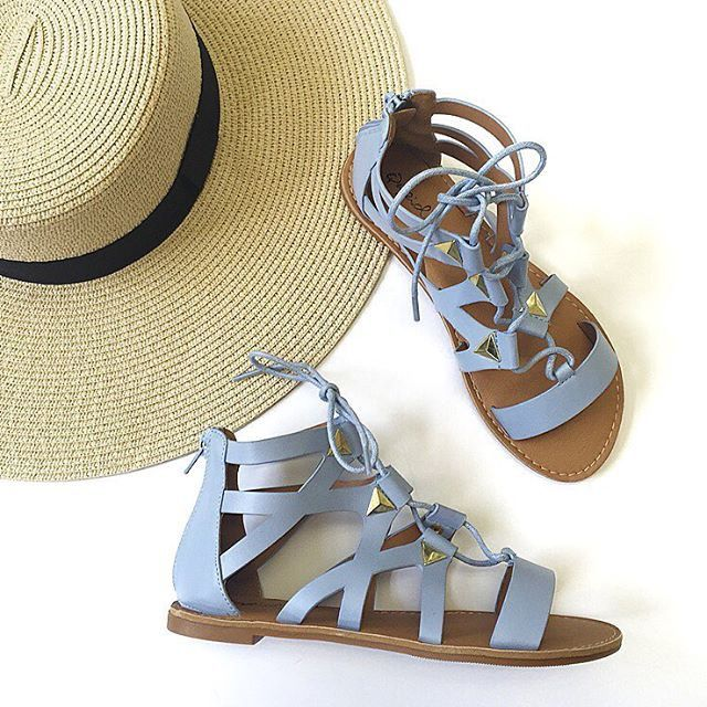 Light Blue Gladiator Sandals