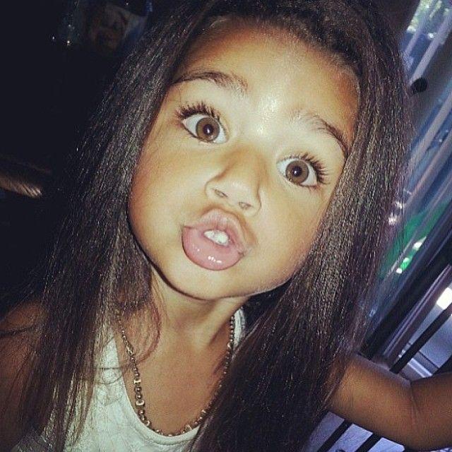 Cute Kids Club Girl Pretty Straight Hair Love Children  2 -8152