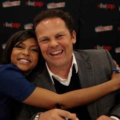 "Kevin Chapman and Taraji P Henson from CBS TV Show ""Person of Interest"""