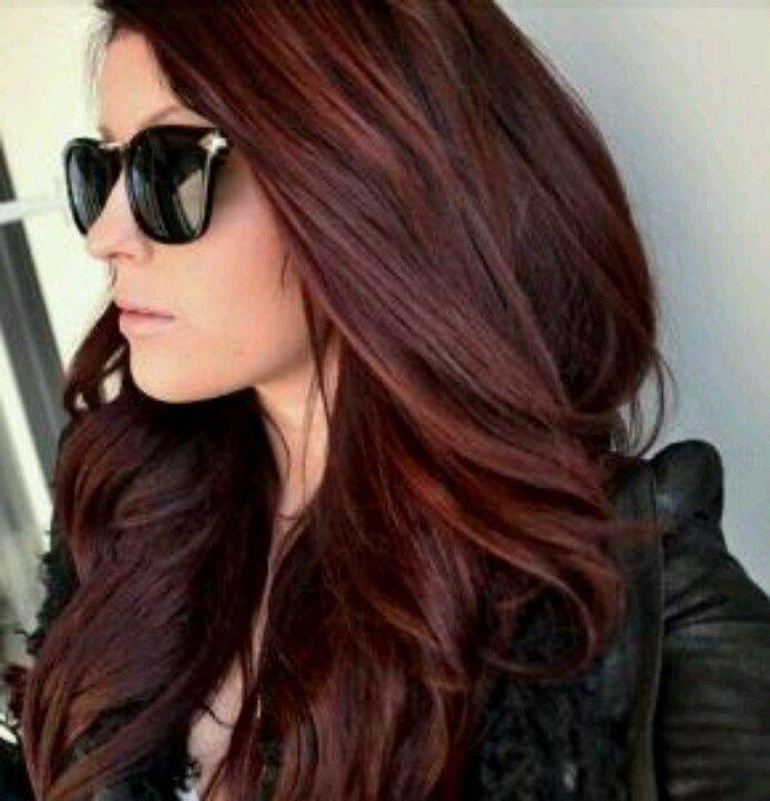 cabelo vermelho escuro