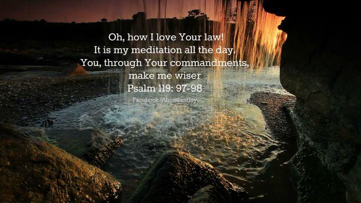 Meditating on the Word  Read more here: http://godsgracefulness.com/?p=4378God Words, God Quotes, Daily Inspiration, Awesome God, Gods Grace, God Psalms, Word Of God, God Grace, Psalms 119 97 98