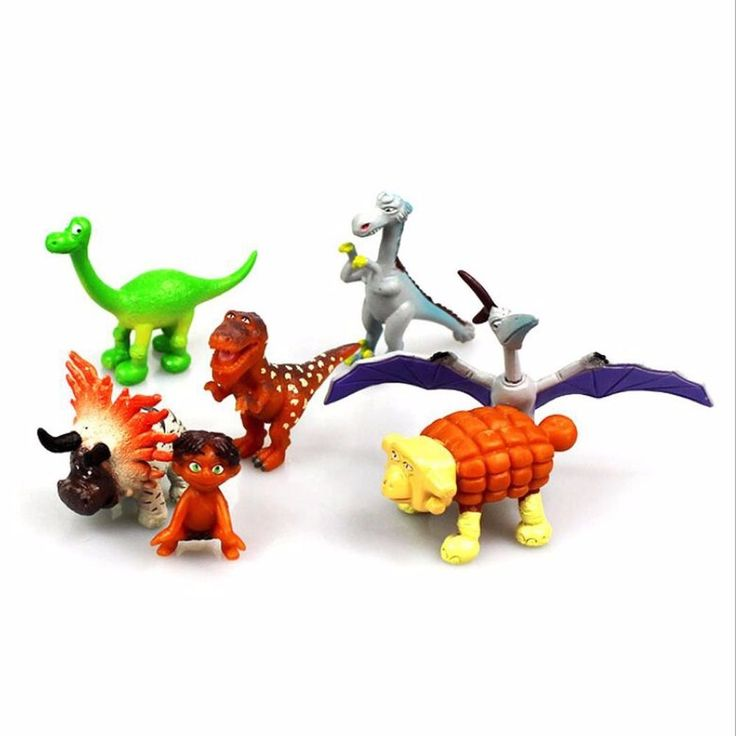 7pcs a Set  Cartoon The Good Dinosaur Cake Toppers Arlo Spot Action Figures Kid #Unbranded