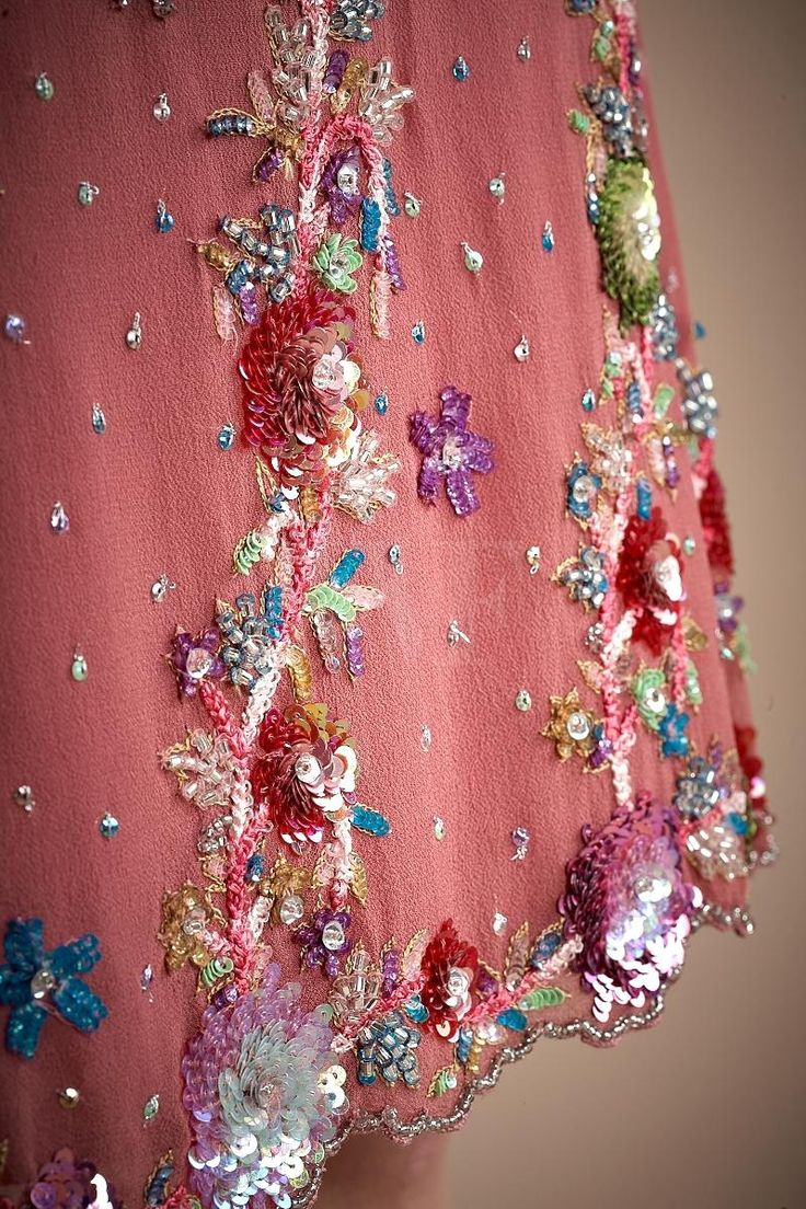 John Galliano: Embroidery detail. Learn how to embroider to fashion industry standard from experts who work for Chanel, Louis Vuitton and more at https://www.mastered.com/course-listings/3