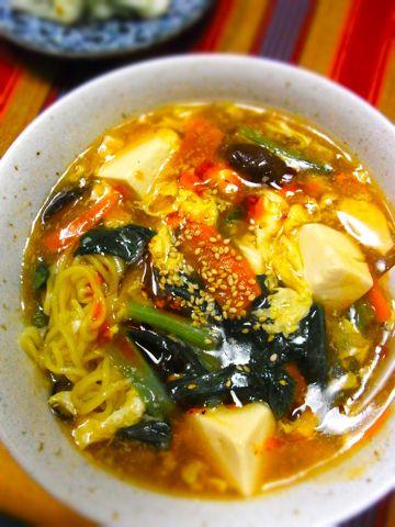 酸辣湯麺(サンラータン麺) 濃縮ポン酢で簡単に!