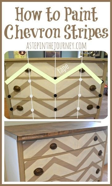 Diy Crafts Ideas : How to Paint Chevron Stripes