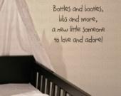 Soak Bathroom Vinyl Wall Lettering Words Art Quotes Decals Stickers Tatoo Cares. $9.95, via Etsy.