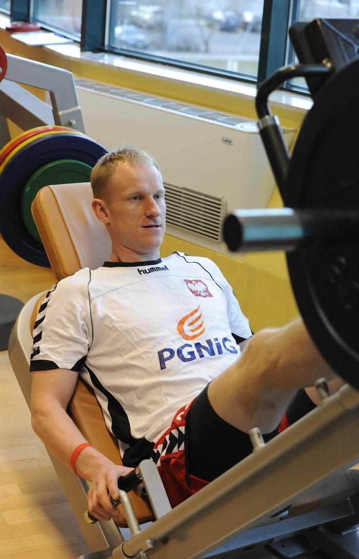 AD2013 January Adam Wiśniewski (siłownia) przed New Year Cup 2013 Czechy
