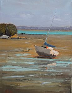 Low tide at Cox's Bay by Andras Kalmar Oil ~  x