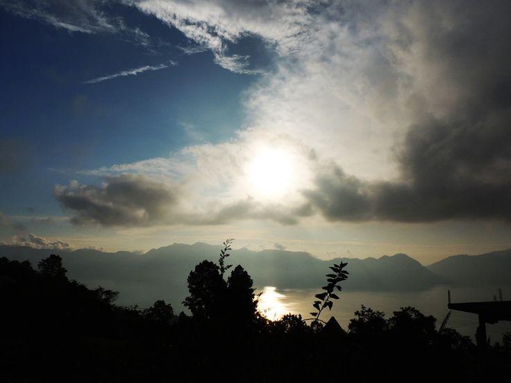 Sunset at Maninjau Lake, west sumatera Indonesia