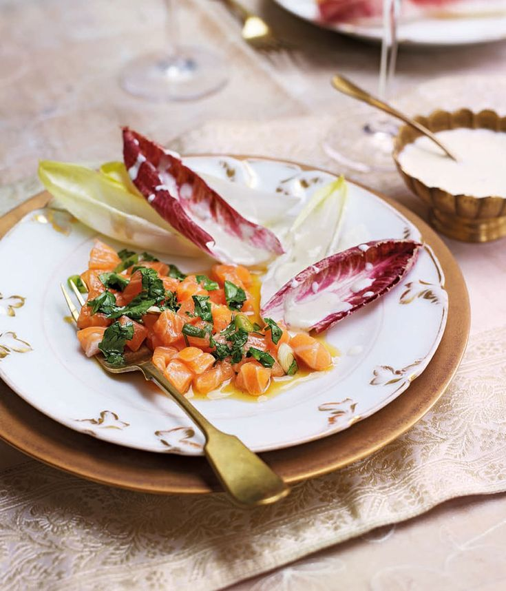 Michel Roux Jr's light salmon starter recipe is best made using the freshest fish from your fishmonger.
