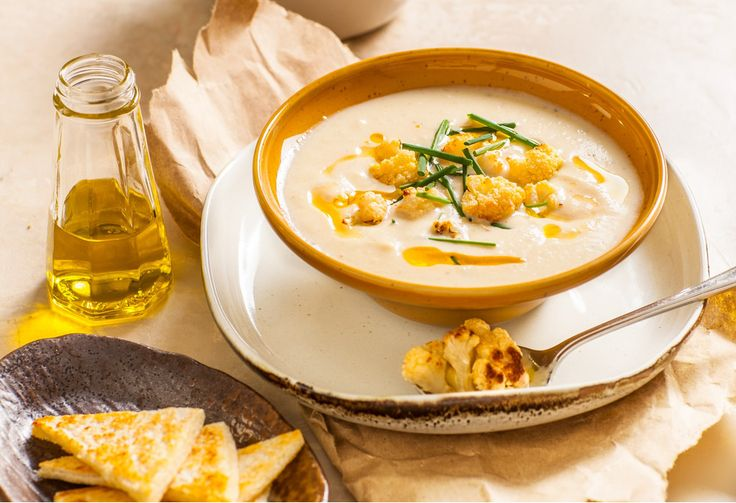 Roasted cauliflower is a scrumptious vegie treat, but turning it into soup takes things to new heights.