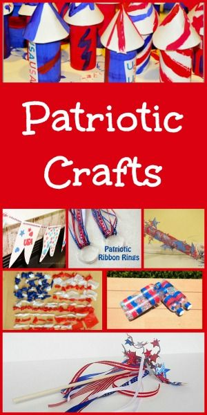 These kid-friendly crafts are a great way to help young kids celebrate patriotic holidays like Fourth of July, Memorial Day, Labor Day, President's Day, or Veteran's Day.