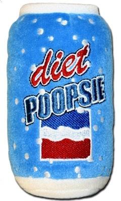 Squeaky Diet Poopsie Plush Dog Toy