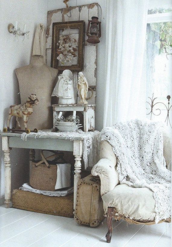 769 best french nordic style images on pinterest for Vintage home decor