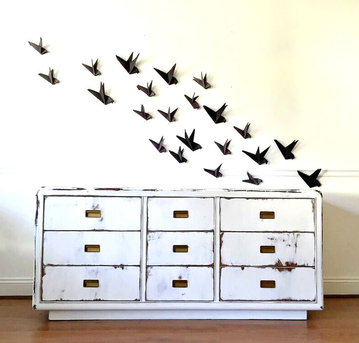 Fresh White Distressed Dresser ||And Classy Spooky Decor|| — StyleMutt Home - Your Home Decor Resource For All Breeds Of Style
