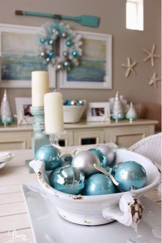 find this pin and more on coastal christmas - Coastal Decorating Ideas