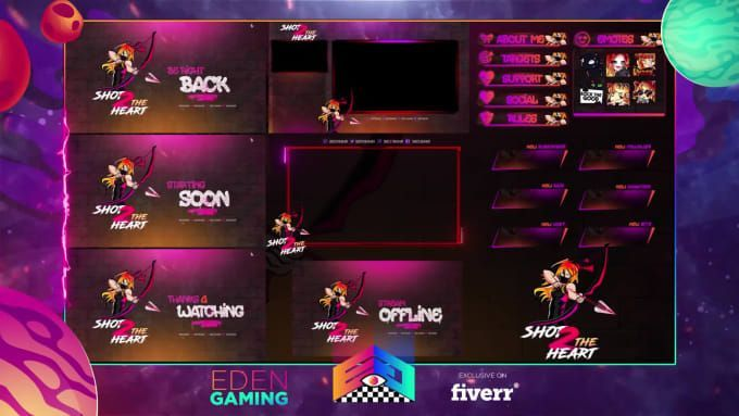 Design Animated Stream Overlay Alerts For Twitch Streamlabs Streaming Overlays Twitch
