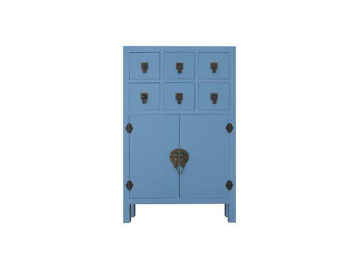 Armario recibidor oriental azul muebles y decoraci n for Muebles orientales madrid