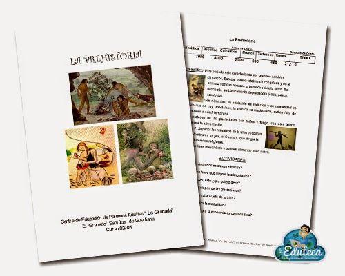 RECURSOS PRIMARIA | Fichas sobre la Prehistoria