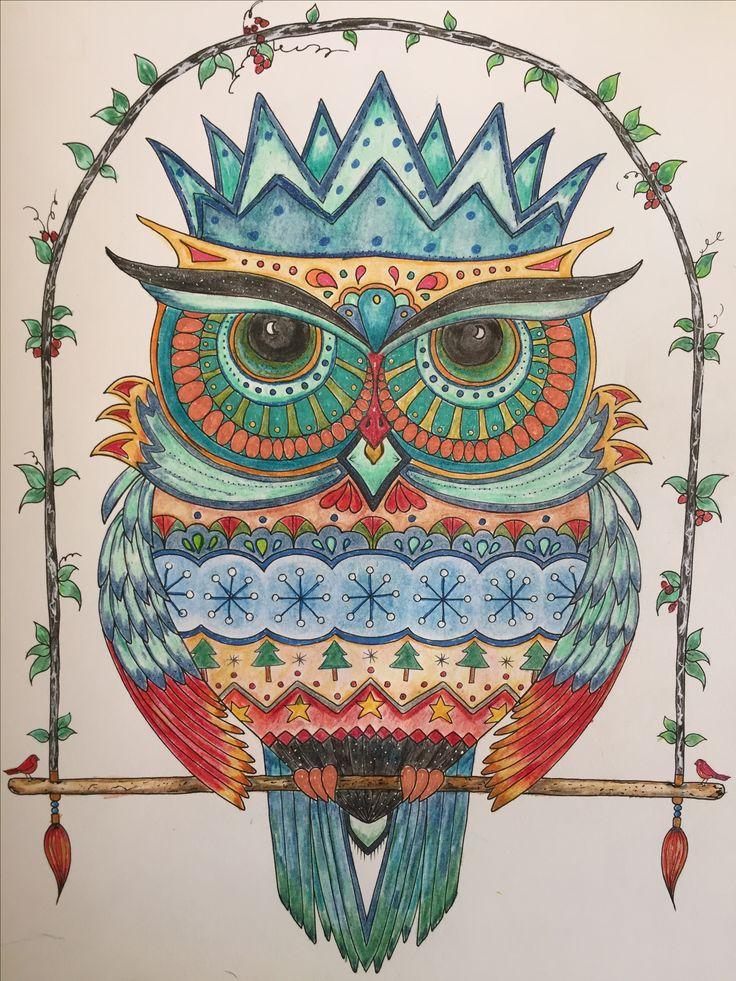 My Owl From Johannas Christmas Coloring Book