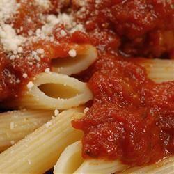 Tomaten pastasaus