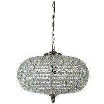 sparkle flat round aluminium chandelier m