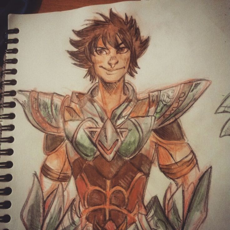 Red Pencil + watercolor sketch: Seiya (from Legend of Sanctuary) by SandButterbeer on deviantart http://fav.me/d8efz0q