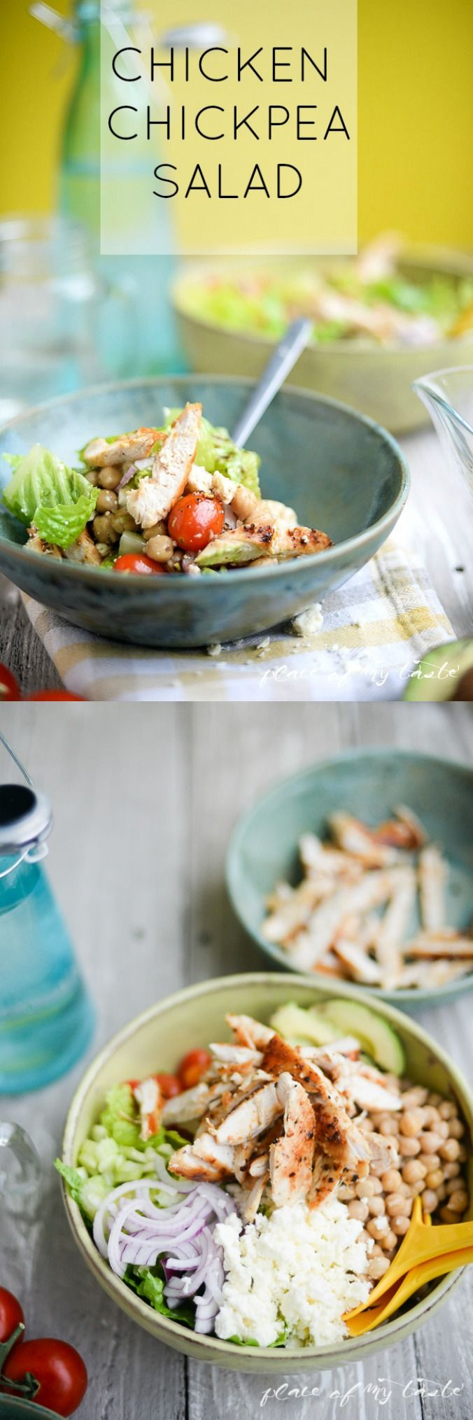 Recipe - Delicious Chicken Chickpea Salad by placeofmytaste.com