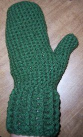 Crochet the cool look of April Draven's designs. Crochet yourself a warm pair of winter mittens. This free crochet mitten pattern is made with an H hook and worsted yarn.