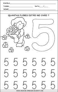 Atividade numerais treino numero 5