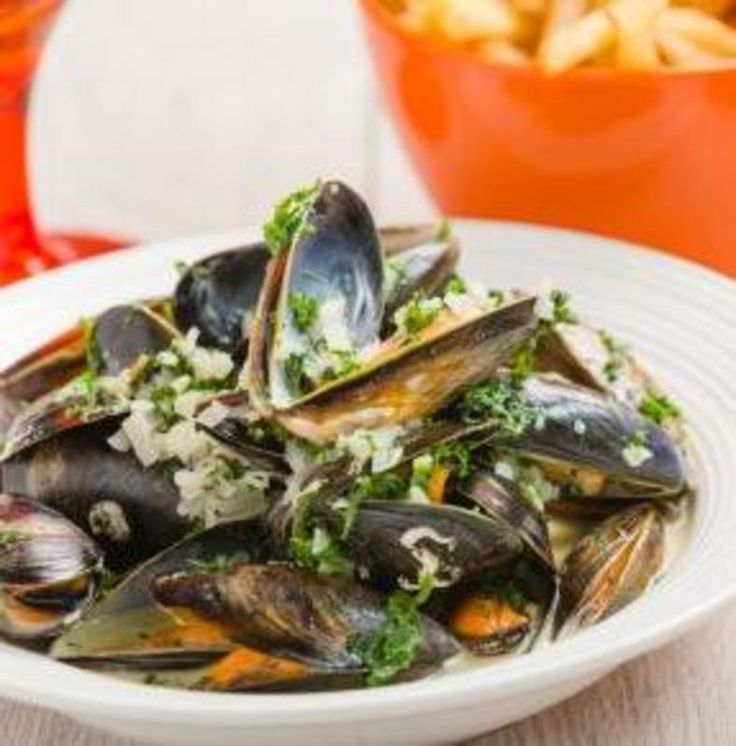 Moules Frites recipe by professional chef John Watret (shared via Seafood from Scotland)    #seasonal #mussels #seafood #shellfish #french #belgian #food #recipes #easyrecipes #chefs #restaurants