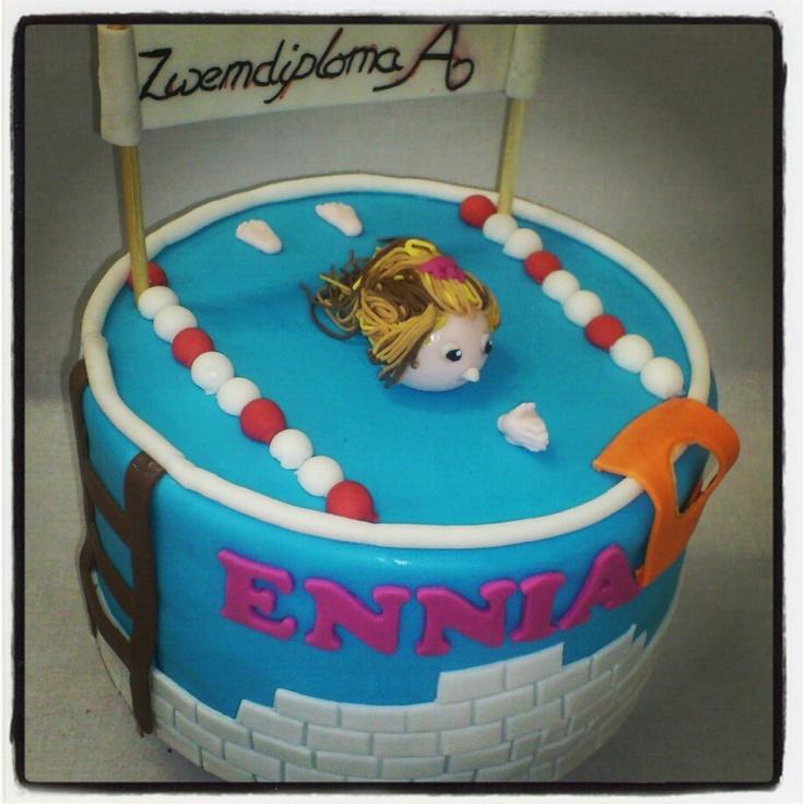 Zwemdiploma A taart