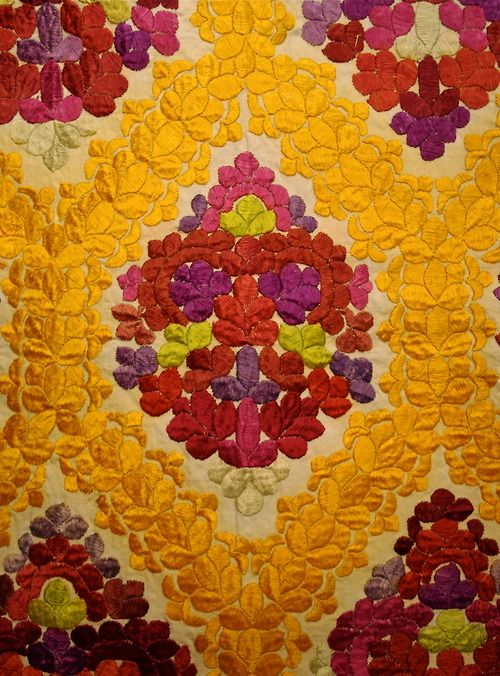 karlbelvedere: Detail of Silk Embroidery on Cotton; Rabat, Morocco.