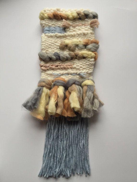 Southwest Neutral Tone Weaving // Peach by TheLittleWovenShop