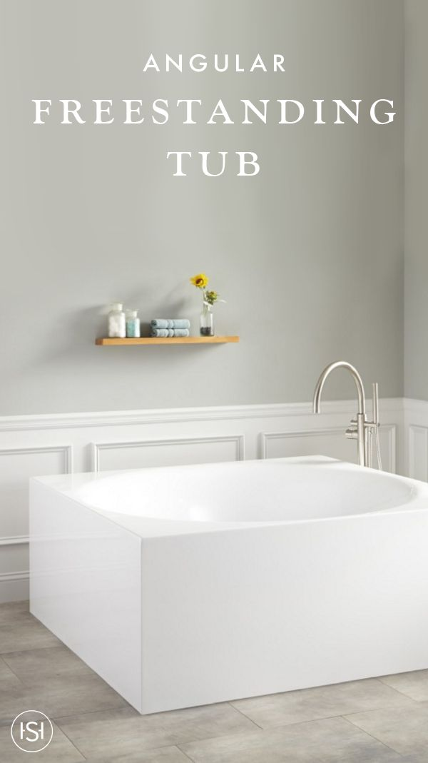 Photo Album Gallery With its angular build and manding size the Arturo Square Acrylic Freestanding Tub is the perfect choice for your master bathroom remodel