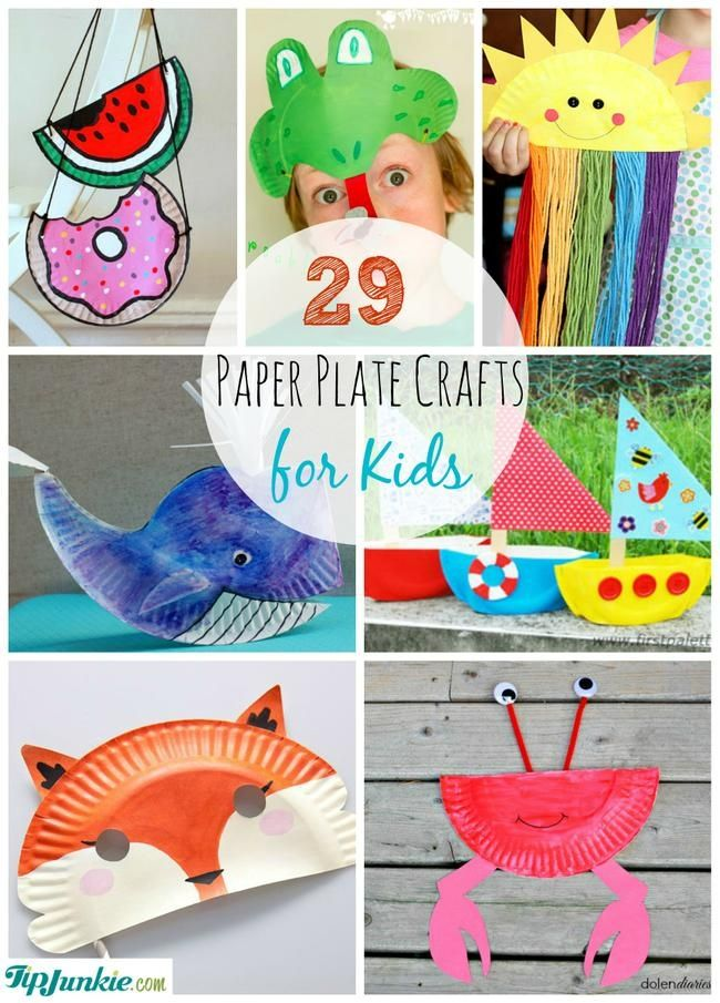 29 Paper Plate Crafts for Kids ADDED BY: Laurie...Here are 29 incredible paper plate crafts complete with pictured instructions.  These paper crafts for kids include paper plate dress ups, animals, activities, holiday crafts, paper plate masks, and much more.