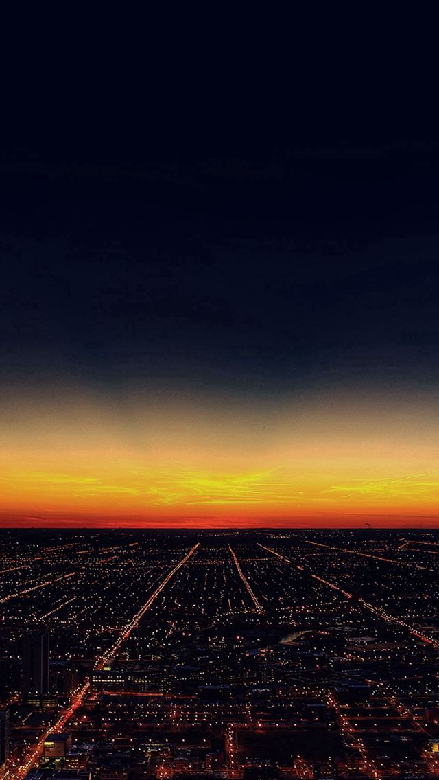 Night Sky Flying Sunset City #iPhone #5s #wallpaper