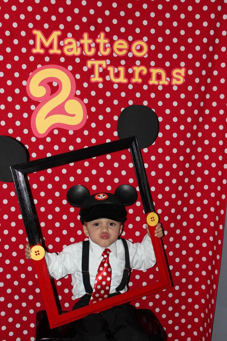 Mickey Mouse birthday party photo booth prop