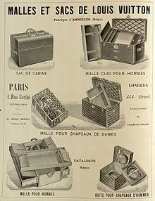 Affiche pour les malles Louis Vuitton.