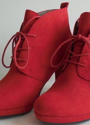 Kaufe meinen Artikel bei #Kleiderkreisel http://www.kleiderkreisel.de/damenschuhe/stiefeletten/143016887-ankle-boot-von-tamaris-gr-38-rot