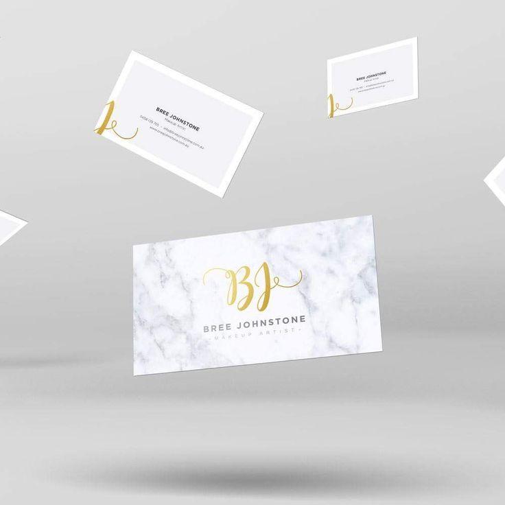 Business card design for the lovely Bree #design #businesscard #love #makeup #brand #brandidentity #crestive