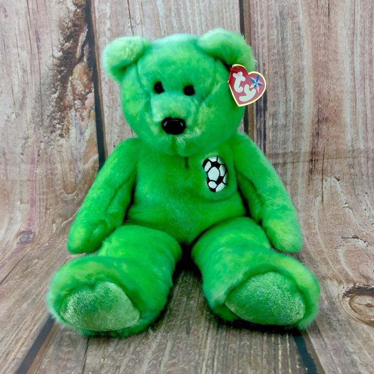 Ty beanie buddies collection Kicks football soccer teddy bear soft toy 1999 tags