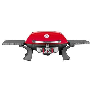 Royal Gourmet Portable Tabletop 2-Burner Propane Gas Grill Finish: Red
