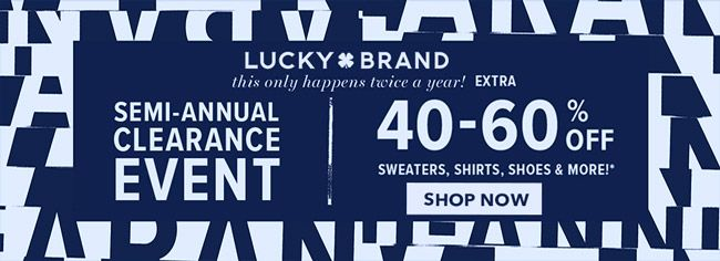 Online Take Extra 40 60 Off Sweaters Shirts Shoes More Store Luckybrandjeans Scope Entire Store En Lucky Brand Jeans Lucky Brand Local Coupons