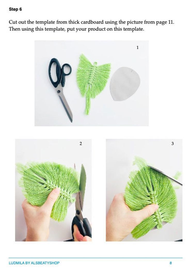 DIY Macrame feather PDF pattern / Leaf macrame tutorial