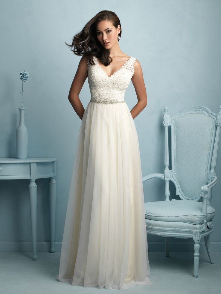114 best Aline Wedding dresses images on Pinterest | Short wedding ...
