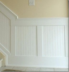 Beadboard paneling, if not shiplap paneling.  Would want either one in house.